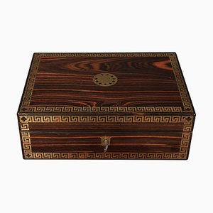 Regency Rosewood & Brass Inlaid Jewelry Box