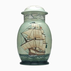 First Fleet HMS Sirius Jar & Cover from Moorcroft, 1988
