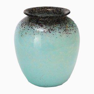 Vase Vintage Art Déco en Verre par Salvador Ysart pour Monart, 1930s
