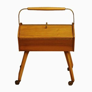 Mid-Century Wooden Sewing Table, 1960s