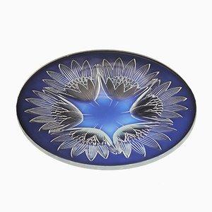 Französische Art Deco Schale aus Opalglas von Pierre D'Avesn