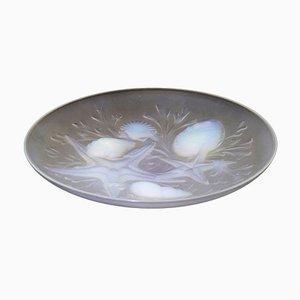 Cuenco francés Art Déco vintage de vidrio de Verlux, años 20