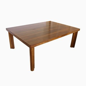 Large Italian Pearwood and Walnut Dining Table by Carlo Scarpa for Bernini, 1977