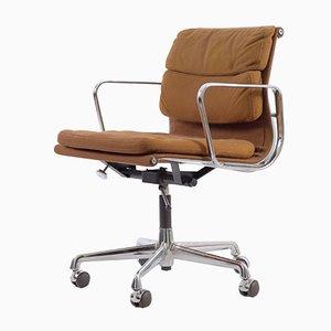 Silla de escritorio modelo EA217 alemana de aluminio y lana de Charles & Ray Eames para Herman Miller, 1978