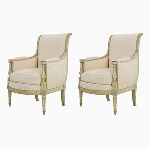 Early 19th-Century French Armchairs, Set of 2