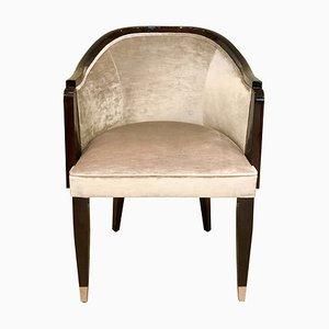 Esszimmerstuhl mit lackiertem Holzgestell von ADM Art Déco Moderne