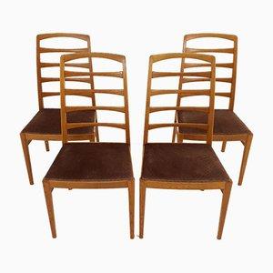 Schwedische Esszimmerstühle aus Eiche und Holz von Bertil Fridhagen für Bodafors, 1950er, 4er Set