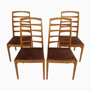 Swedish Oak and Wood Dining Chairs by Bertil Fridhagen for Bodafors, 1950s, Set of 4