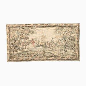 Handgefertigter französischer Wandteppich aus Baumwolle & Wolle, 1950er