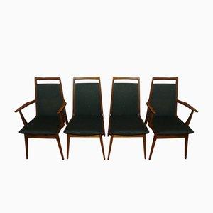 Esszimmerstühle aus Stoff und Holz von Casala, 1960er, 4er Set