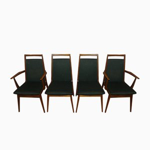 Textile and Wood Dining Chairs from Casala, 1960s, Set of 4
