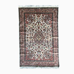 Alfombra paquistaní vintage de algodón y seda, años 80