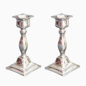 Silberne Vintage Kerzenhalter, 1923, 2er Set