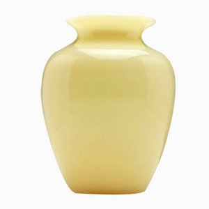 Antique Opaline Glass Vase by Frederick Carder for Steuben