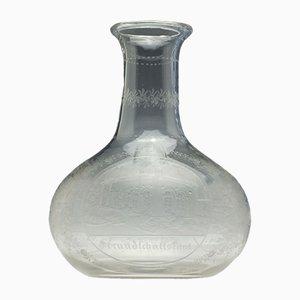 Antike Glaskaraffe, 1850er