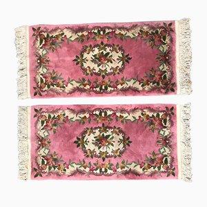Chinesischer Vintage Teppich aus Baumwolle & Wolle, 1980er