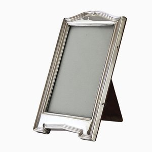 Silver Photo Frame with Shaped Top and Base, 1915