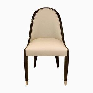 Chaise de Salle à Manger avec Dossier Courbé Étroit de ADM Art Déco Moderne