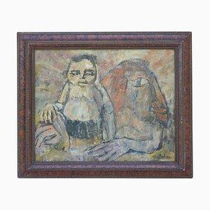 In the arms of the Sphinx Acrylmalerei auf Leinwand von Guy Salesse, 1960er