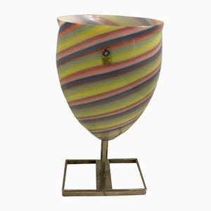 Lampada da tavolo vintage in vetro di Murano di Leucos, Italia, anni '70