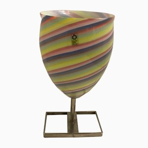 Vintage Italian Murano Glass Table Lamp from Leucos, 1970s