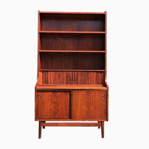 Danish Rosewood Tambour Bookcase by Johannes Sorth for Nexø Møbelfabrik, 1960s