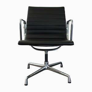 Chrome & Leather EA 108 Armchair by Charles & Ray Eames for Vitra, 2000s