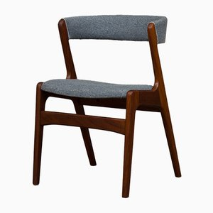 Scandinavian Teak and Wool Fire Side Chair by Kai Kristiansen for Schou Andersen, 1960s