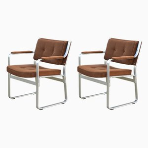 Aluminum and Fabric Mondo Armchairs by Karl-Erik Ekselius for JOC Vetlanda, 1960s, Set of 2