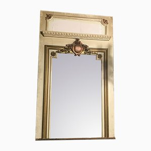 Antique Rococo Style French Overmantel Mirror