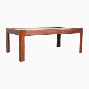 Grande Table Basse en Teck par Illum Wikkelsø pour Niels Eilersen, Danemark, 1960s