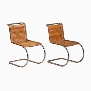 Chaises d'Appoint MR 10 Vintage en Acier Tubulaire par Mies van der Rohe, 1930s, Set de 2