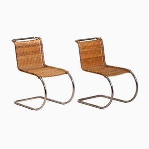 Vintage Tubular Steel MR 10 Side Chairs by Mies van der Rohe, 1930s, Set of 2