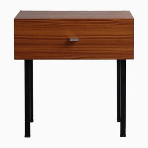 Laminate and Steel Nightstand by Pierre Guariche for Meurop, 1960s