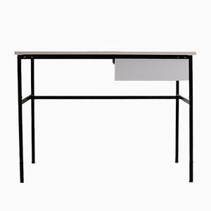 Schreibtisch aus Stahl & Pressholz von Pierre Guariche für Meurop, 1970er
