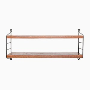 Iron & Teak Shelf by Kajsa & Nils Strinning for String, 1960s