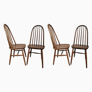 Vintage Oak Windsor Dining Chairs from Priory, 1960s, Set of 4