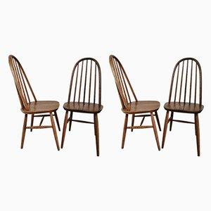 Vintage Windsor Esszimmerstühle aus Eiche von Priory, 1960er, 4er Set
