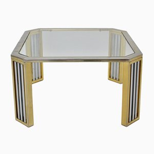 Italian Modern Chrome and Glass Coffee Table, 1970s