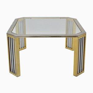 Tavolino da caffè moderno in vetro e metallo cromato, Italia, anni '70