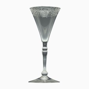 Georgian Engraved Baluster Wine Glass, 1740s