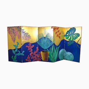 Hand-Painted Gold Leaf Screen by JPDemeyer Home Collection