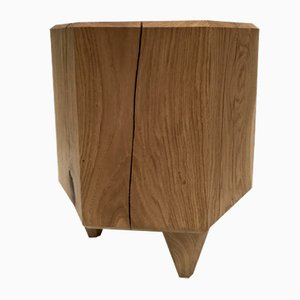 Stump Oak Stool by Michael Haveloh
