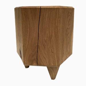 Tabouret Stump en Chêne par Michael Haveloh