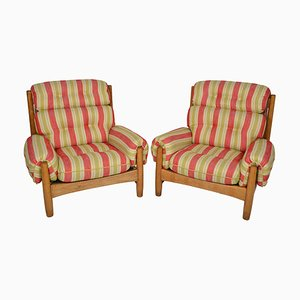 Mid-Century Oak Armchairs, 1950s, Set of 2