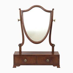Miroir de Coiffeuse Antique en Acajou