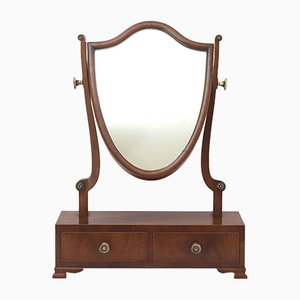 Specchio da toeletta antico in mogano