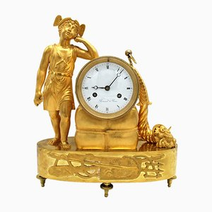 Antique Empire French Gilt Bronze Pendulum Clock