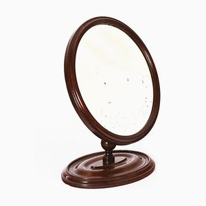 Early 19th Century Adjustable Mahogany Shaving Mirror