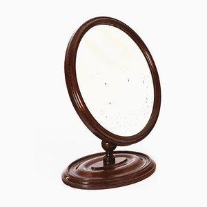 Espejo de afeitar ajustable de caoba, principios del siglo XIX